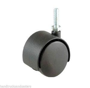 "Chrome-stem Threaded Black Plastic Hooded 3/8""(in) Casters for Sale in Orlando, FL"