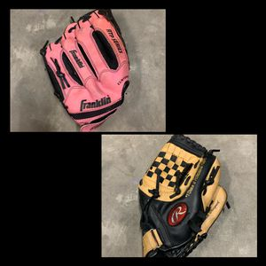 baseball/softball gloves bundle for Sale in Myrtle Beach, SC