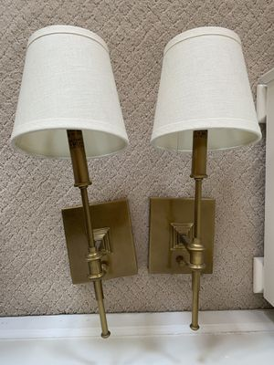 Restoration Hardware Brass Candlestick Sconce (Set of 2) for Sale in Chicago, IL