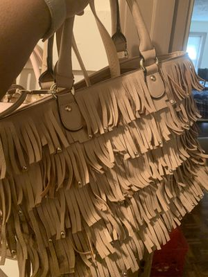 Woman's nude spring fringed purse for Sale in Columbus, OH