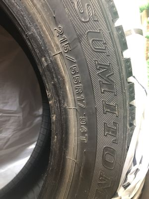 SNOW TIRES- must go for Sale in Hermon, ME