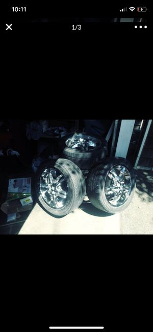 Looking to trade my 18 chrome rims for some 20 inch rims for Sale in Tacoma, WA