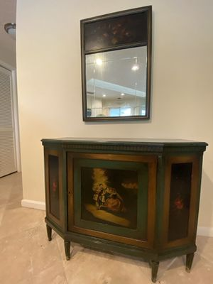 Antique cabinet with mirror for Sale in Wellington, FL