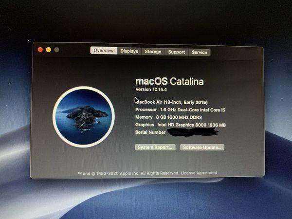 2015 MacBook Air 13in.