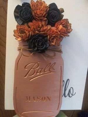 Wooden Mason Jar for Sale in Colonial Heights, VA
