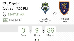 6 tkts - Sounders 2nd round playoff game - Oct 23 - 7pm for Sale in Bellevue, WA