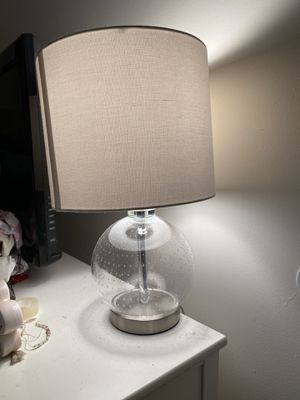 Clear Lamp with White Shade for Sale in Gillette, NJ