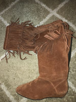 Fringe boots size 7 for Sale in Brighton, CO