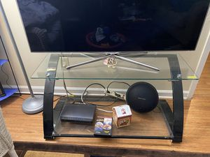 Glass Tv Stand for Sale in Raleigh, NC