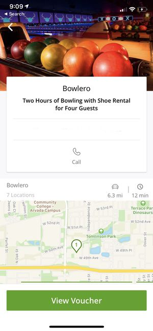 4 Groupons for Bowling @ Bowlero- 2 hrs w shoes for 4 people for Sale in Arvada, CO