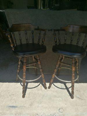 Pair George B. Bent Co. vintage bar stools for Sale in Shenandoah, TX