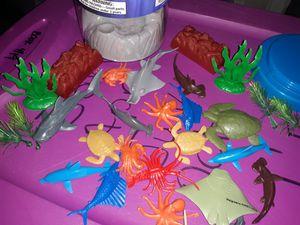 Sea animals toys play pretend for Sale in San Antonio, TX