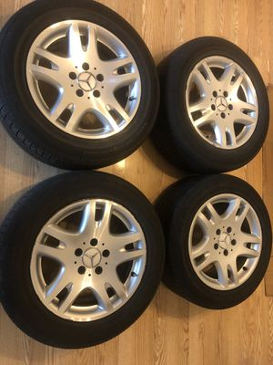 "2006 MERCEDES BENZ E320 E-CLASS WHEELS RIMS & TIRES 5X112! CONTINENTAL TIRES 225/55/R16""! for Sale in Burr Ridge, IL"