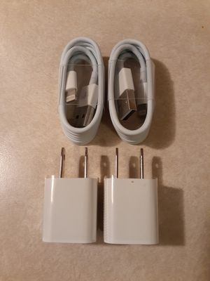 Two iPhone Chargers & Two Wall Adapters for Sale in Las Vegas, NV