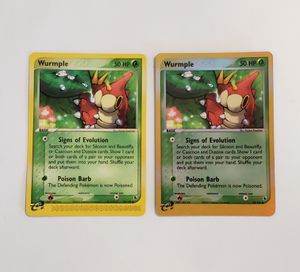 **2 Card Lot** 2003 Wurmple #78/109 Ex Ruby & Sapphire Pokemon Card for Sale in San Diego, CA