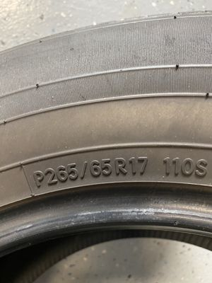 Used Toyo Tires 265/65 R17 x3 for Sale in Tampa, FL