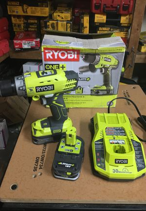 RYOBI 18-Volt ONE+ Lithium-Ion Cordless 1/2 in. Hammer Drill/Driver Kit with (2) 1.5 Ah Batteries, Charger, and Tool Bag for Sale in Fontana, CA