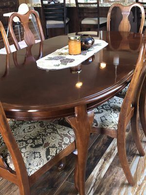 Beautiful like-new cherry wood dining table and chairs! for Sale in Salt Lake City, UT