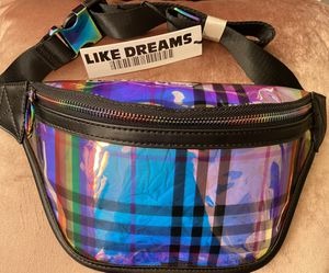 New!!! Designer chic holographic tint rainbow fanny pack for Sale in La Mesa, CA