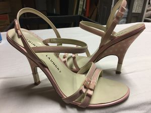 Chinese Laundry Pastel Pink White Polka Dots Pen Toe Stiletto Sandal Heels. 6.5M for Sale in Paris, KY