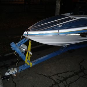 Boat Blues And White Color Has Motor for Sale in Portland, OR