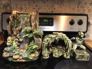Large fish tank decor set for Sale in New Port Richey, FL