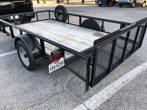 14FT TEXAS BRAGG TRAILER DOVE TAIL W/ RAMP for Sale in Rowlett, TX