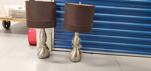 Silver lamps x2 for Sale in LAKE LINCOLND, NY
