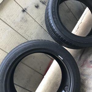 2 Michelin Tires Size 17 for Sale in Visalia, CA