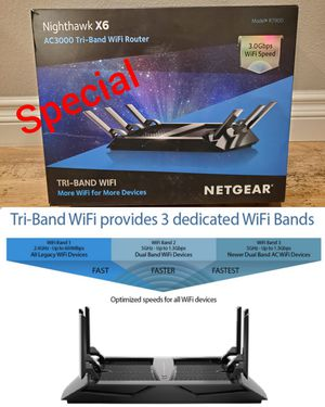 🌟💥🌟NETGEAR Nighthawk X6 AC3000 Tri-Band Smart WiFi Router for Sale in Anaheim, CA