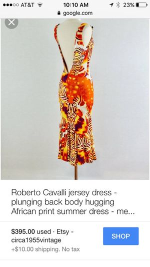 Roberto Cavalli size 42 figure hugging dress (fits 6-8) for Sale in Great Falls, VA