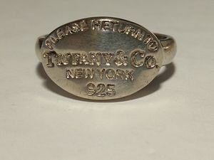 Retired Sterling Silver Return to Tiffany ring size 8 for Sale in Oklahoma City, OK