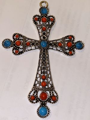 Big/Turkish/turquoise/cross-pendant/antique for Sale in Portsmouth, VA