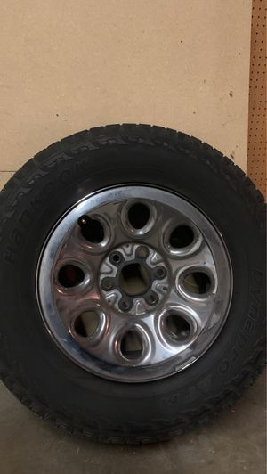 Stock Silverado rims and tires for Sale in Fresno, CA