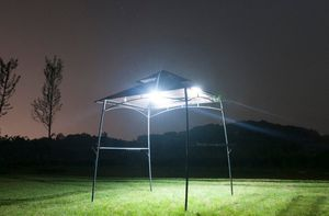 Outdoors BBQ Grill Gazebo Garden Metal Canopy Tent Party Sun Shade W/ Lights for Sale in Henderson, NV