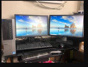 Dell computer bundle dual monitor setup for Sale in Denver, CO