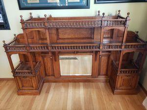 Antique Oak Mirrored Display for Sale in Newark, CA