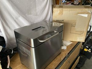 Aicok Programmable stainless steel ceramic bread maker New excellent condition open box never used for Sale in Las Vegas, NV