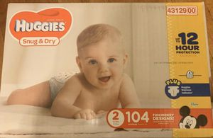 Huggies Snug & Dry Box Size 2 for Sale in Whittier, CA