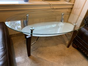 Coffee Table and Two Side Tables. Glass and Wood. Modern Furniture in Great Condition for Sale in Brooklyn, NY