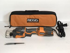RIDGID Thru Cool 6 Amp 1-Handed Orbital Reciprocating Saw Kit for Sale in Phoenix, AZ