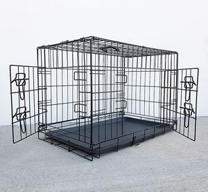 """$30 NEW Folding 30"""" Dog Cage 2-Door Folding Pet Crate Kennel w/ Tray 30""""x18""""x20"""" for Sale in Whittier, CA"""