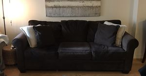 Brown Microsuede Couch for Sale in Alexandria, VA