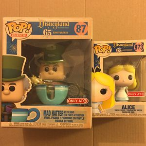 Disney 65th Anniversary Alice In Wonderland Set - Mad Hatter And Alice for Sale in Daly City, CA