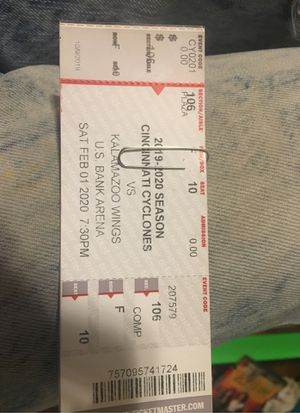 4 Cincinnati cyclones tickets for Sale in Groesbeck, OH