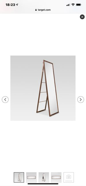 Threshold wood ladder standing mirror for Sale in Alexandria, VA