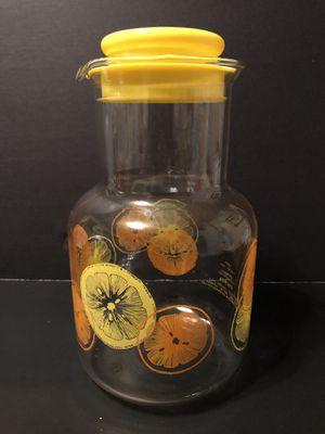 Vintage Pyrex 1 1/2 quart lemon / orange carafe juice decanter for Sale in Fresno, CA