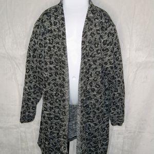 Girls Black/Grey Leopard Print Cardigan Size 10-12 for Sale in Duluth, GA