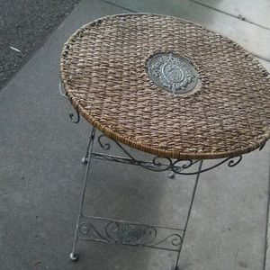 Steel Or Iron Foldable Folding Table Woven Patio Coffee for Sale in Portland, OR