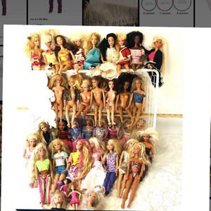 Barbie dolls Bundle 38 Dolls and clothes for Sale in Oro Grande, CA